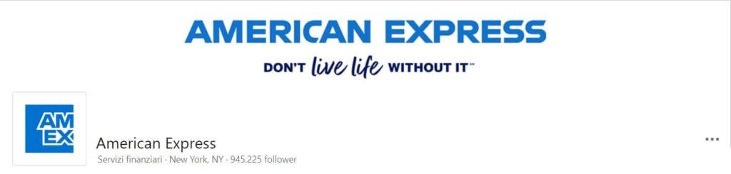 copertina pagina linkedin american express