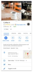 google my business layout immagini