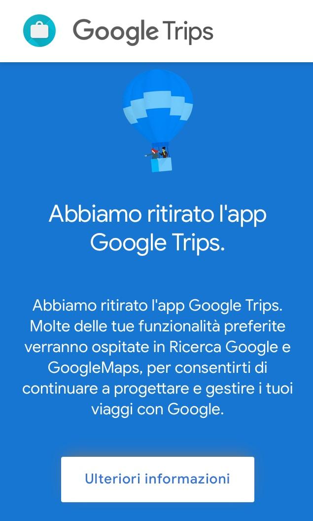 Google trips chiude