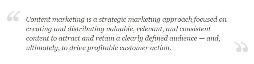 definizione content marketing