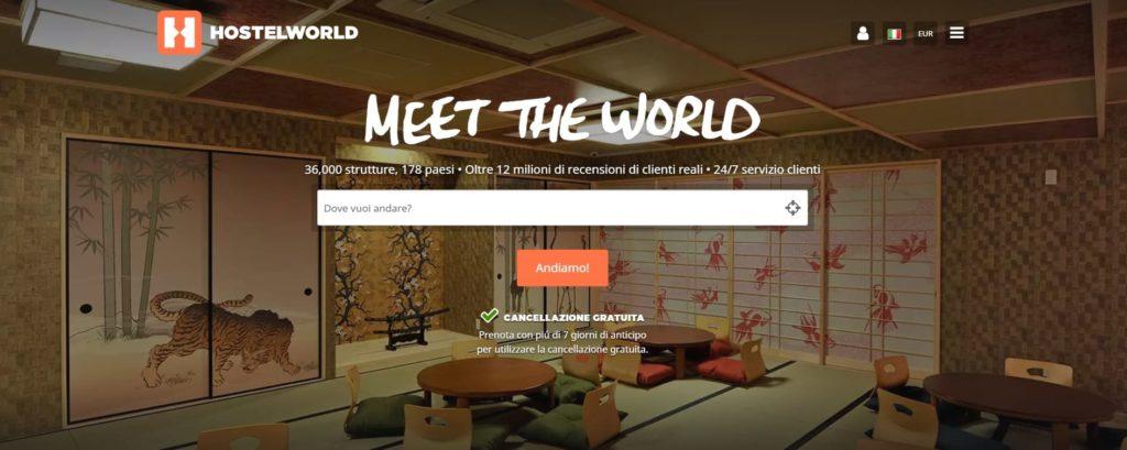 esempio cta sito hostelworld