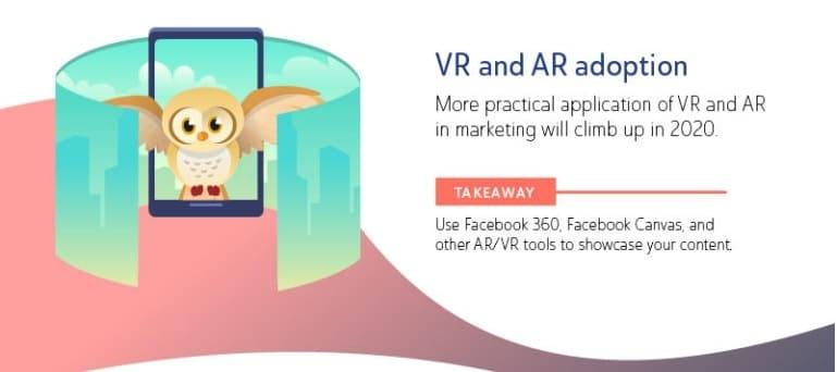 realtà virtuale e aumentata sui social