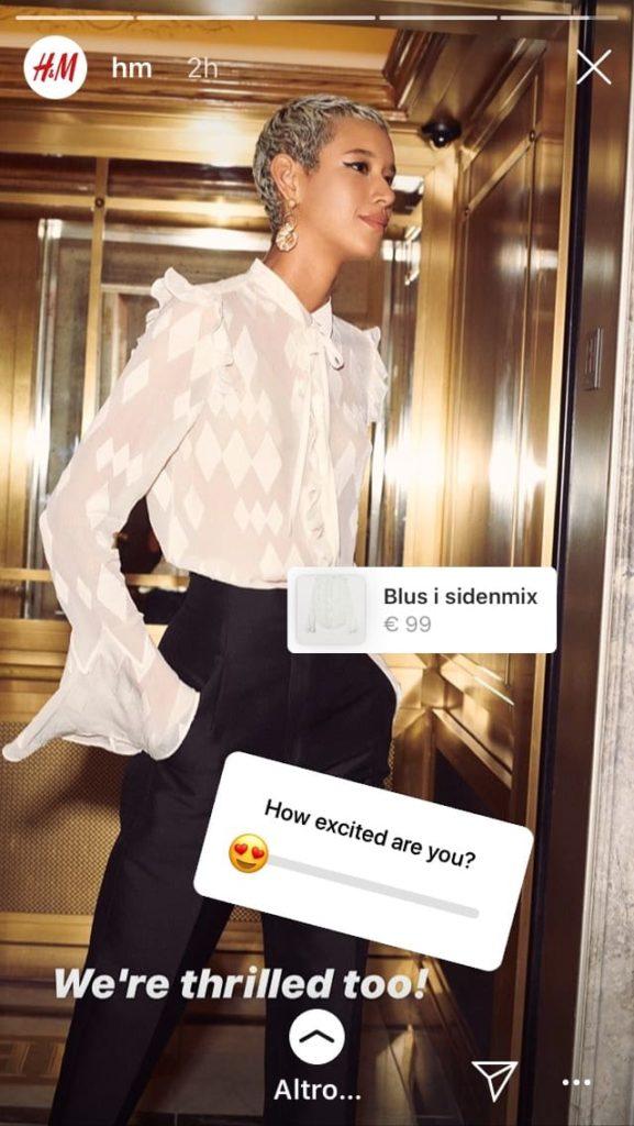 storia instagram h&m