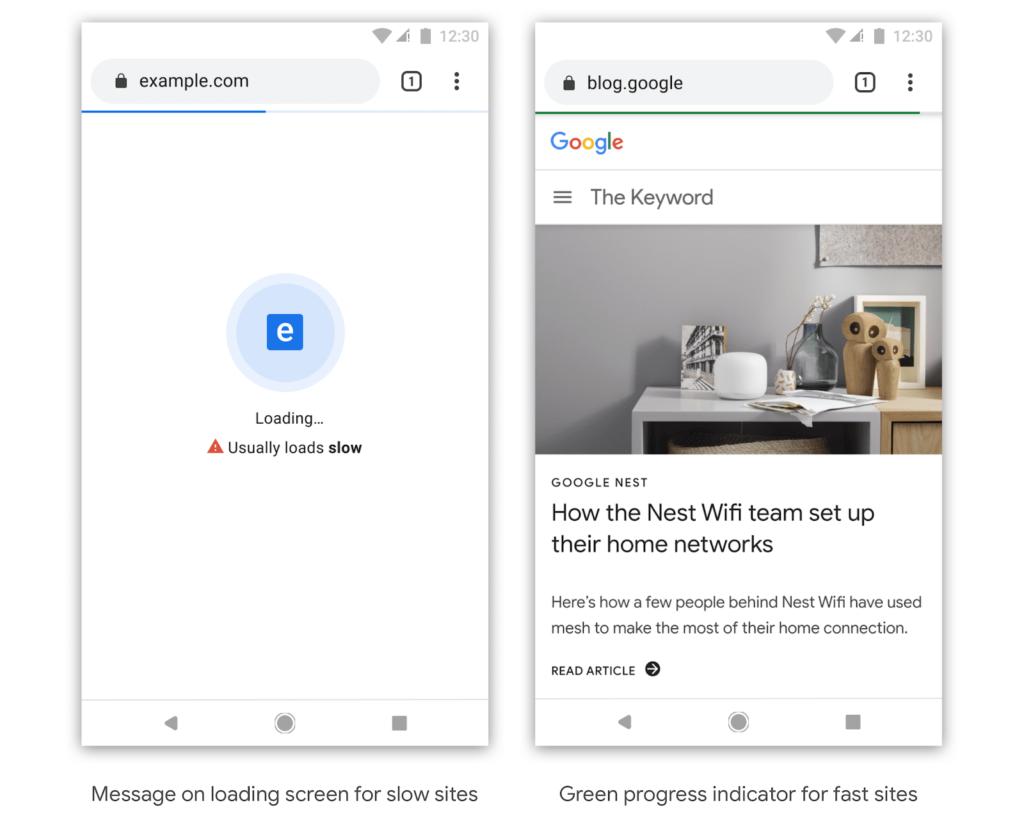 google chrome segnalazione siti lenti