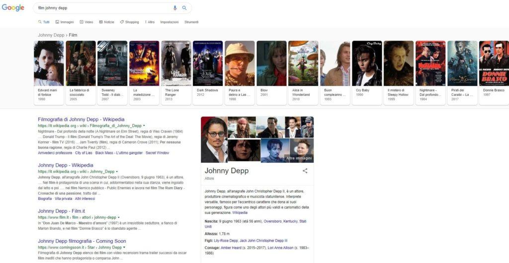 esempio knowledge graph google