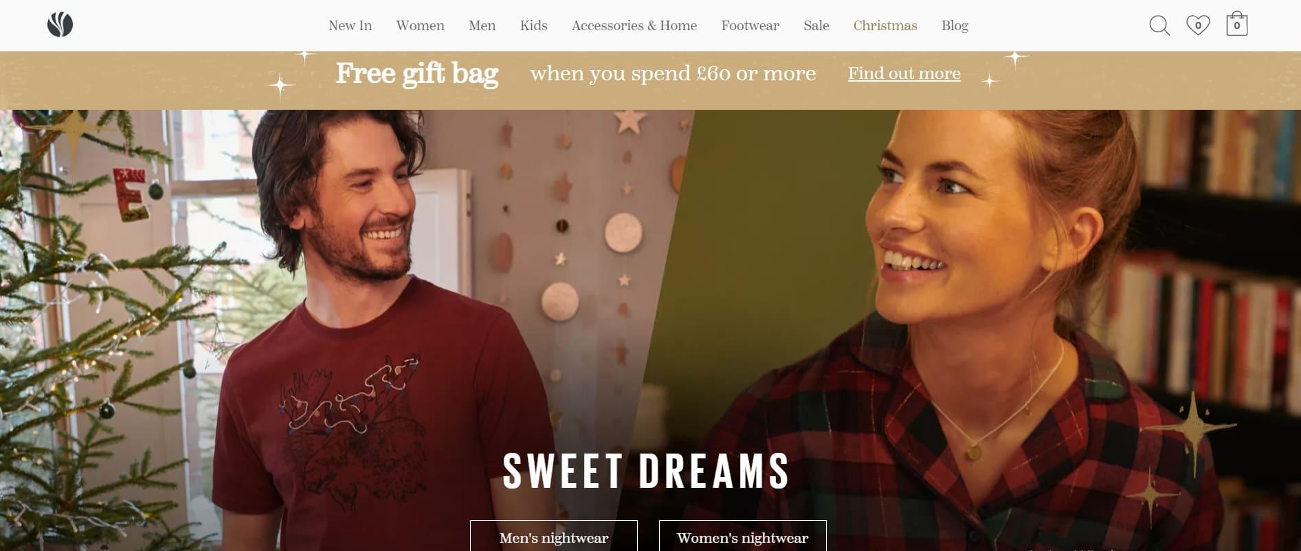 home page sito FatFace