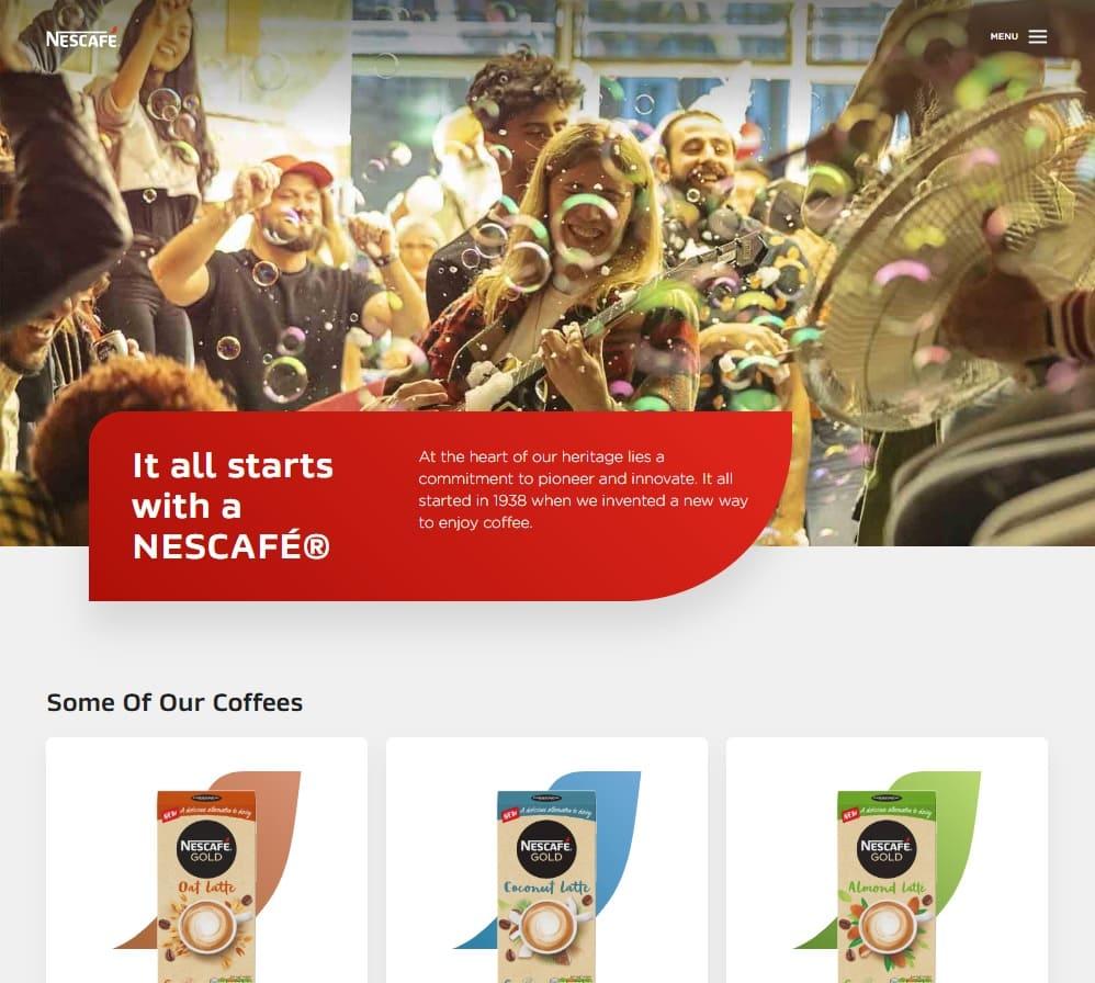 home page sito Nescafè