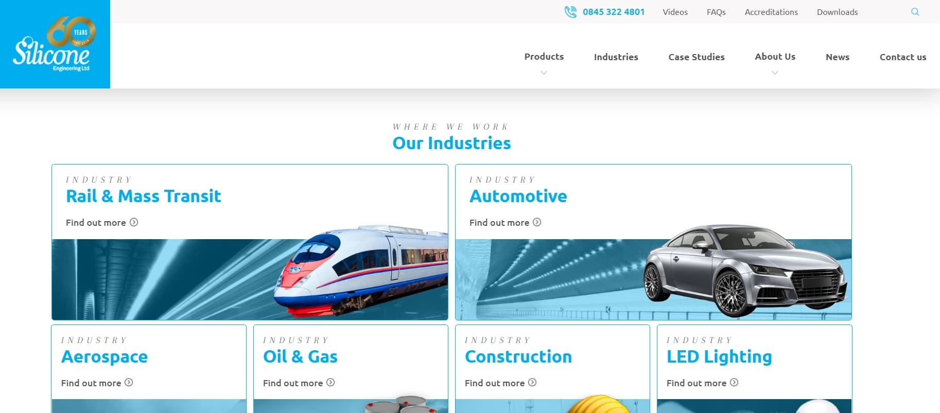 home page sito Silicone Engineering