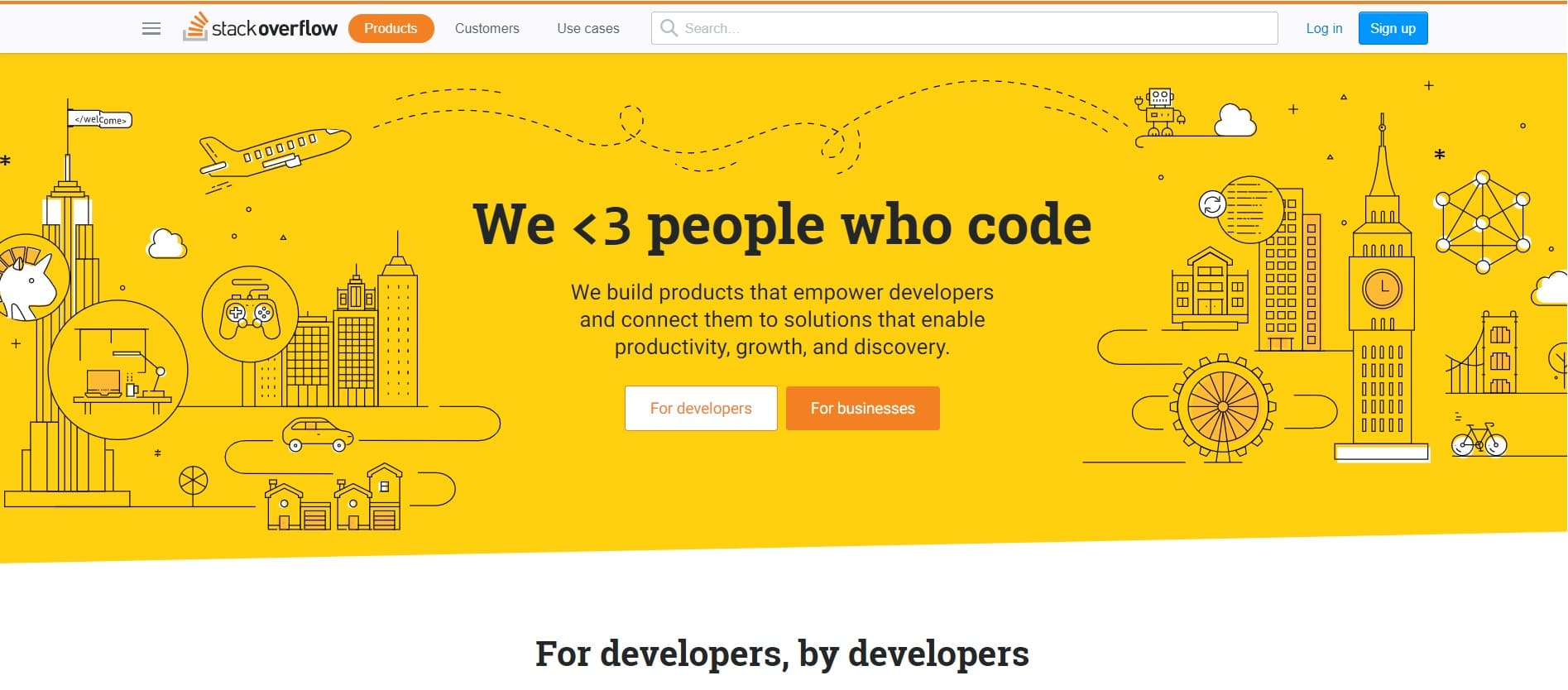 home page sito StackOverflow