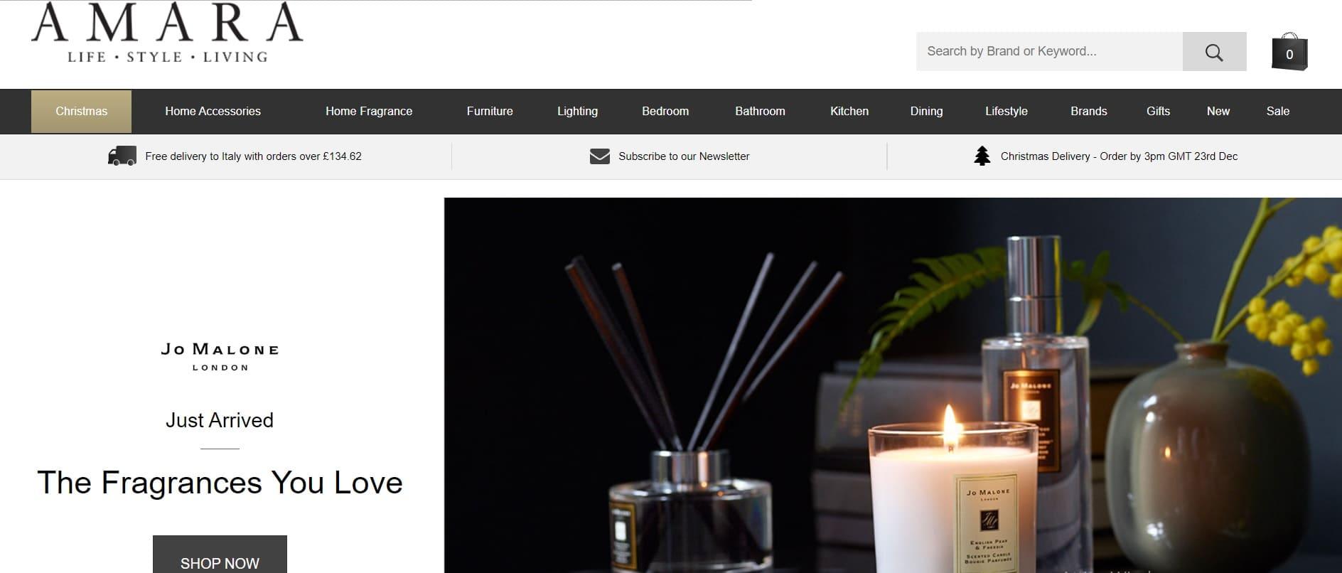 home page sito amara