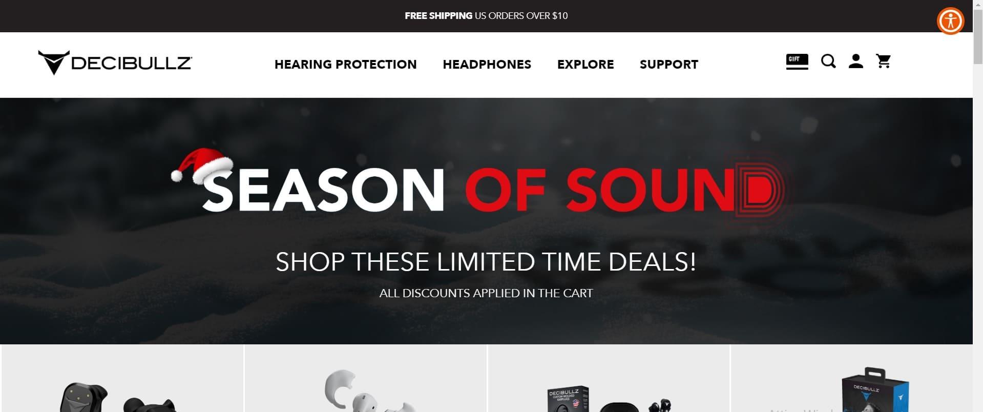 home page sito decibullz
