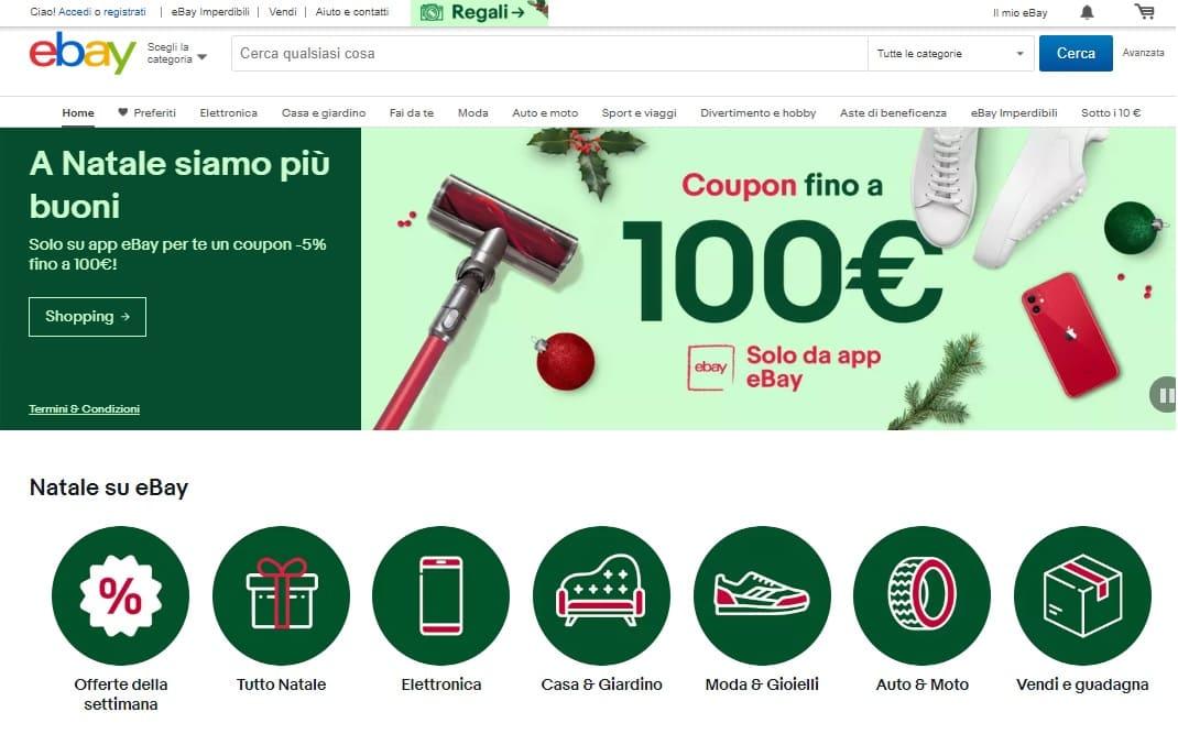 home page sito ebay