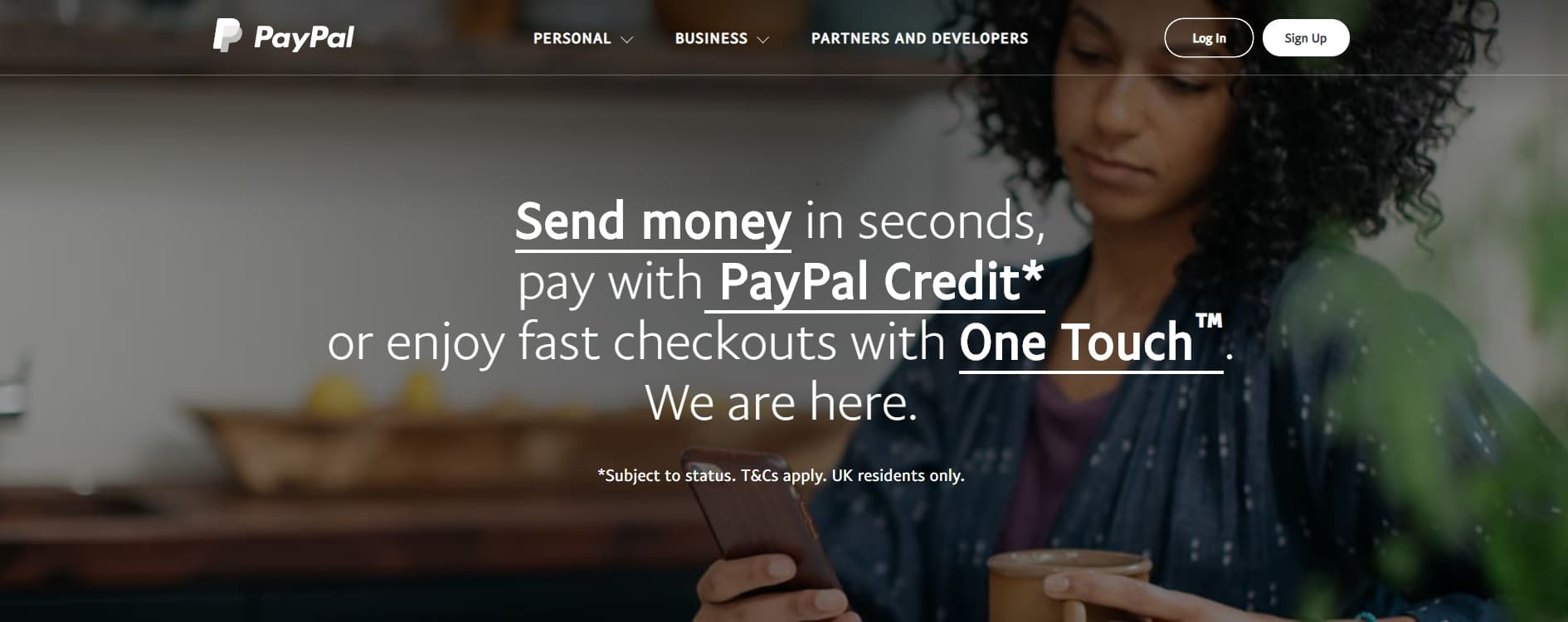 home page sito paypal