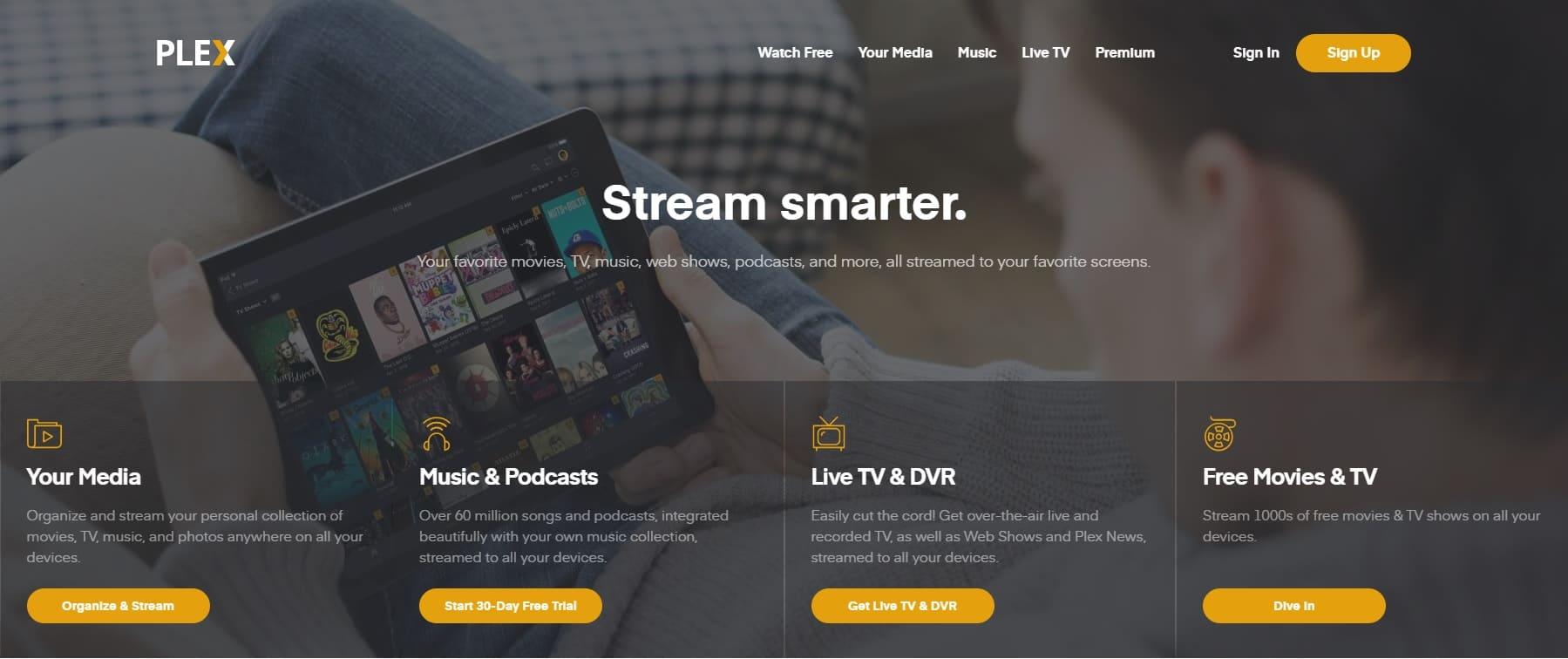 home page sito plex