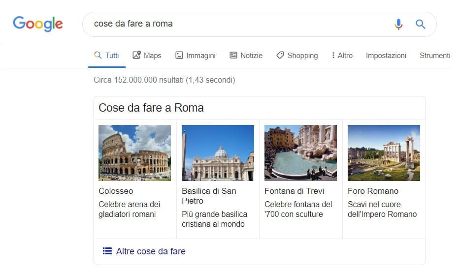 ricerca destinazione google