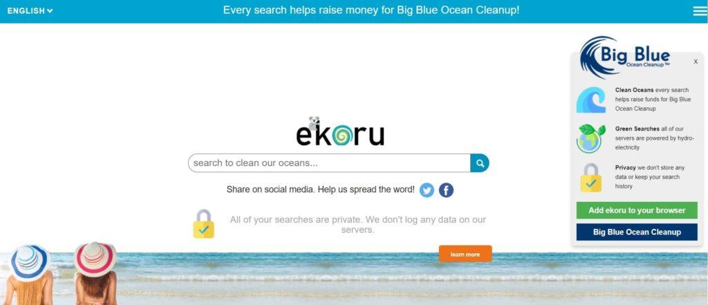ekoru motore di ricerca