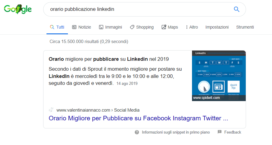 nuovi featured snippet google