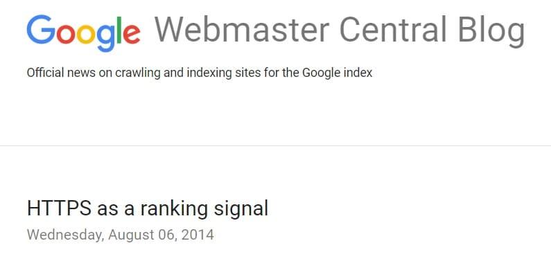 https fattore ranking google