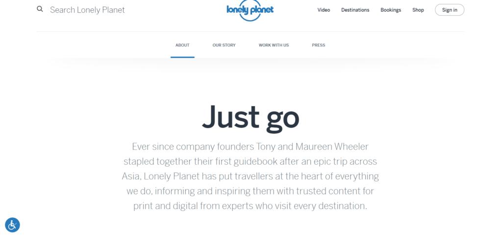 pagina chi siamo Lonely Planet